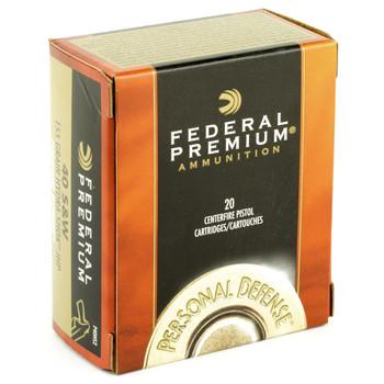 Federal Hydra-Shok, 40S&W, 155 Grain, Hollow Point, 20 Round Box P40HS2, UPC : 029465089146