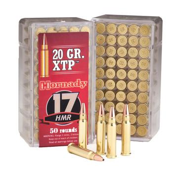 Hornady Hunting, 17HMR, 20 Grain, XTP, 50 Round Box 83172, UPC : 090255831726