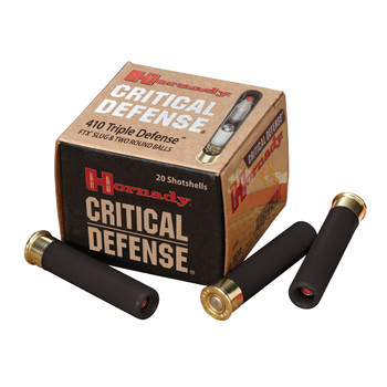 "Hornady Critical Defense, 410 Gauge, 2.5"", Defender, 20 Round Box 86238, UPC : 090255862386"