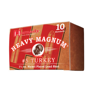 "Hornady Heavy Magnum Turkey, 12Ga 3"", #5 Shot, 10 Round Box 86241, UPC : 090255862416"