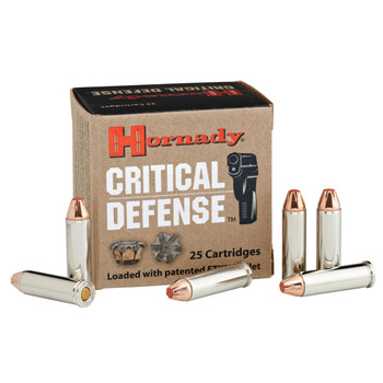 Hornady Critical Defense, 32 H&R, 80 Grain, FlexTip, 25 Round Box 90060, UPC : 090255900606