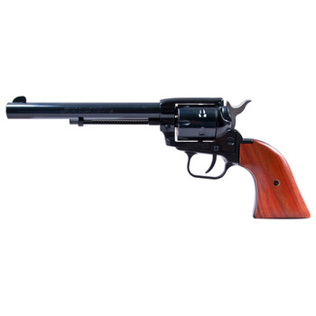 """Heritage Rough Rider, Single Action Army Revolver, 22LR/22WMR, 6.5"""" Barrel, Alloy Frame, Blue Finish, Wood Grips, Fixed Sights, 6Rd, Right Hand 22MB6, UPC :727962500316"""