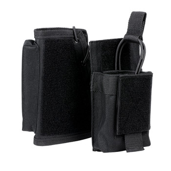 NCSTAR Stock Riser with Mag Pouch, Black, Fits Most Rifles, Ambidextrous Mag Pouch, Holds All AR and AK Mags CVSRMP2925B, UPC :814108016456