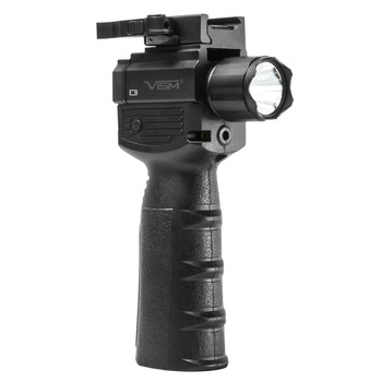 NCSTAR Flashlight  Laser Combo, Red Laser, Foregrip Fits Weaver/Picatinny Type Rails, Black, Uses (2) CR123A Batteries (Included) VAQVGFLRV2, UPC :848754003836