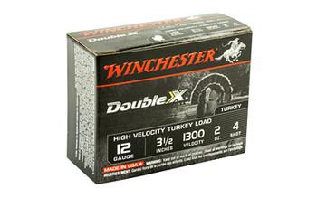 "Winchester Ammunition Double X High Velocity, Turkey, 12 Gauge, 3.5"", #4, 2oz, 10 Round Box STH12354, UPC : 020892012196"