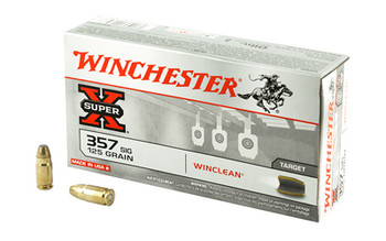 Winchester Ammunition USA, 357SIG, 125 Grain, Brass Enclosed Base Clean, 50 Round Box WC357SIG, UPC : 020892213036