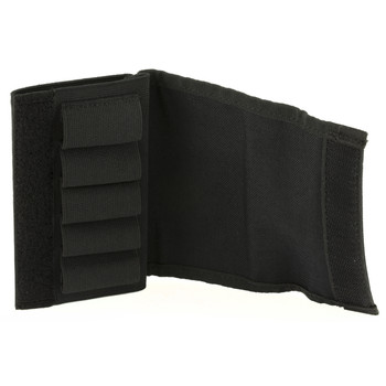 Uncle Mike's Buttstock Shell Holder, For Shotgun, with Flap, Black 8849-2, UPC : 043699884926