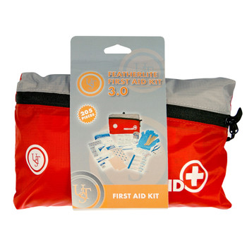 """UST - Ultimate Survival Technologies Featherlite First Aid Kit 3.0, 205 Pieces, Red Finish, Contains: Acetaminophen (6), Alcohol Prep Pads (21), Antibiotic Ointment Packets (2), Antiseptic Towelettes (24), Aspirin Tablets (6), Bandage Adhesive 3"""" x 1"""