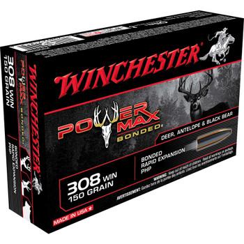 Winchester Ammunition Super-X, 308WIN, 150 Grain, Power Max Bonded, 20 Round Box X3085BP, UPC : 020892218116