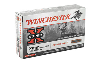 Winchester Ammunition Super-X, 7x57, 145 Grain, Power Point, 20 Round Box X7MM1, UPC : 020892201736