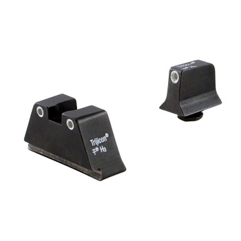Trijicon Bright  Tough, Sight, Supppressor Height, Green Front with Yellow Rear, Fits Glock 17/19/22/23/26/27/31/32/33/34/35/37/38/39, Black GL201-C-600651, UPC :719307211186