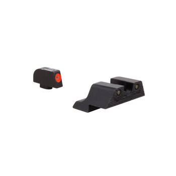 Trijicon HD XR Night Sight Set, 3 Dot Green Tritium With Orange Front Outline, Fits Glock 17/19/26/27/33/34 GL601-C-600836, UPC :719307213876