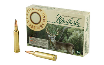 Weatherby Select Ammunition, 270 Weatherby, 130 Grain, Norma Spitzer, 20 Round Box G270130SR, UPC :747115419906