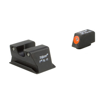 Trijicon HD Night Sights, Fits Walther PPS, Orange Front, 3 Dot Green, Tritium WP102-C-600743, UPC :719307212176
