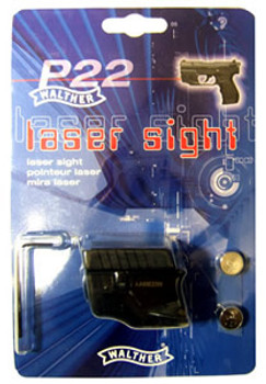 Walther Laser Sight, Fits Walther P22, Black Finish 512104, UPC :723364200816