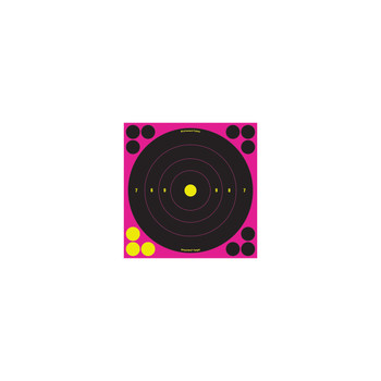 Birchwood Casey Shoot-N-C Pink 8in Bulls-Eye Target 30pk, UPC : 029057348286