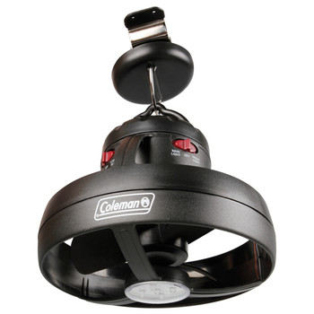 Coleman Cool Zephyr Ceiling Fan With Light Black 2000016470, UPC : 076501923346