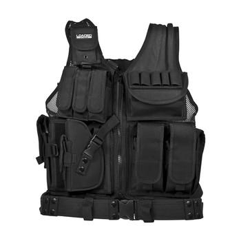 Barska Loaded Gear VX-200 Tactical Vest-Left Hand-Black, UPC :790272985296