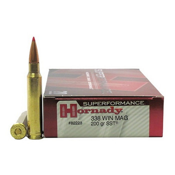 Hornady Superformance SST Ammunition 338 Winchester Magnum 200 Grain SST Box of 20, UPC : 090255822236