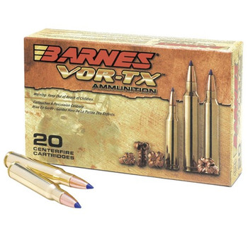 Barnes VOR-TX Ammunition 300 Remington Ultra Magnum 180 Grain TTSX Polymer Tipped Spitzer Boat Tail Lead-Free Box of 20, UPC :716876030286