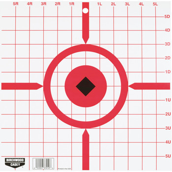 "Birchwood Casey Rigid 12"" Crosshair Sight-In Tagboard Target Pack of 10, UPC : 029057372106"