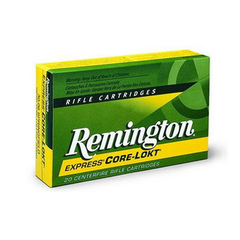 Remington Express Ammunition 25-06 Remington 100 Grain Core-Lokt Pointed Soft Point Box of 20, UPC : 047700052106