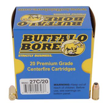 Buffalo Bore Ammunition 380 ACP +P 90 Grain Jacketed Hollow Point Box of 20, UPC :651815027036