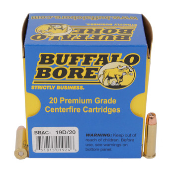 Buffalo Bore Ammunition 357 Magnum 125 Grain Jacketed Hollow Point High Velocity Box of 20, UPC :651815019246