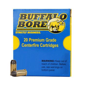 Buffalo Bore Ammunition 45 Auto Rim (Not ACP) +P 255 Grain Hard Cast Lead Flat Nose Box of 20, UPC :651815032016