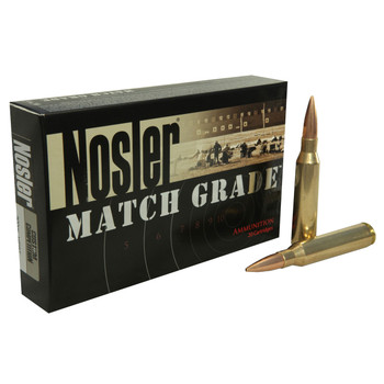Nosler Match Grade Ammunition 33 Nosler 300 Grain Custom Competition Hollow Point Boat Tai Box of 20, UPC : 054041600316