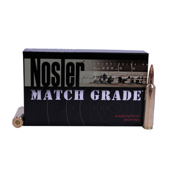 Nosler Match Grade Ammunition 26 Nosler 140 Grain Custom Competition Hollow Point Boat Tail Box of 20, UPC : 054041512886