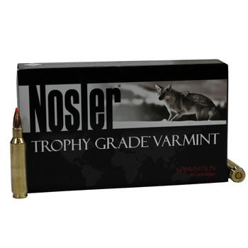 Nosler Trophy Grade Ammunition 22 Nosler 55 Grain Ballistic Tip Varmint Spitzer Box of 20, UPC : 054041600156