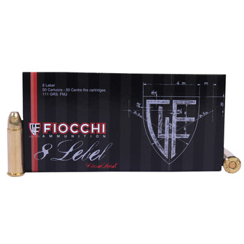 Fiocchi Ammunition 8mm Lebel Revolver 111 Grain Full Metal Jacket Box of 50, UPC :762344001586