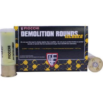 "Fiocchi Special Application Breaching Shotshell 12 Gauge 2-3/4"" 540 Grain Polymer Encapsulated Lead Shot Box of 10, UPC :762344711546"
