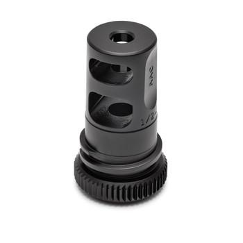 Advanced Armament Corp Blackout, Muzzle Brake, 556NATO, 1/2X28, 51 Tooth, Fits M4, Black Finish 64132, UPC :857839002749