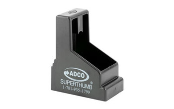 ADCO Super Thumb, Mag Loader, Black Finish,  Fits Glock9MMS/40SW, HK USP 45, S&W M&P 45, Springfield XDM 45, STI Double Stack Magazines ST2, UPC :733315010029