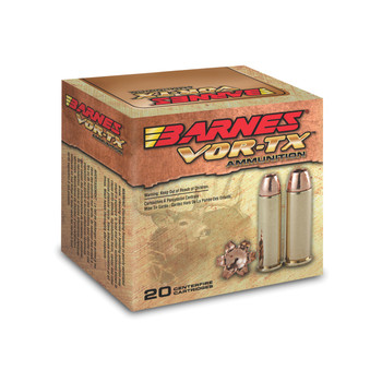 Barnes VOR-TX, 44 Mag, 225 Grain, XPB, Jacketed Hollow Point, Lead Free, 20 Round Box 21545, UPC :716876154449