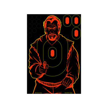 "Birchwood Casey Shoot-N-C 12"" x 18"" Bad Guy Target, 5 Pack 34645, UPC : 029057346459"