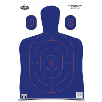 "Birchwood Casey Dirty Bird 12"" x 18"" Blue/Orange Silhouette Target, 8 Targets 35718, UPC : 029057357189"