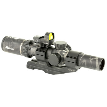Burris MTAC, Rifle Scope, 1-4X, 24, Ballistic CQ 5.56 Illuminated Reticle, Wiht FastFire III & P.E.P.R. Mount, Black Out Camo Finish 200465, UPC : 000381004659