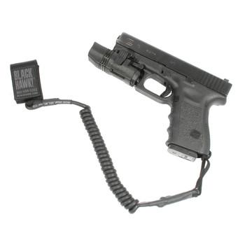 BLACKHAWK! BlackHawk, Pistol Coil Lanyard, Black 90TPL1BK, UPC :648018020919