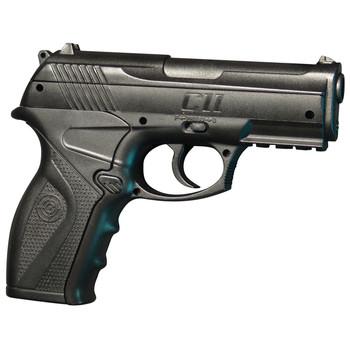 Crosman Model C11 Tactical Pistol, .177 BB, Black Synthetic Stock, CO2, With Laser Sight, Semi Automatic, 480 Feet Per Second C11, UPC : 028478127449