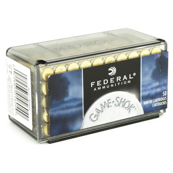 Federal GameShok, 22WMR, 50 Grain, Jacketed Hollow Point, 50 Round Box 757, UPC : 029465056049