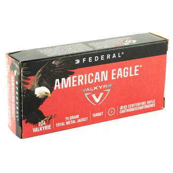 Federal American Eagle, 224 Valkyrie, 75 Grain, Total Metal Jacket, 20 Round Box AE224VLK1, UPC :604544630299