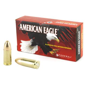 Federal American Eagle, 9MM, 124 Grain, Full Metal Jacket, 50 Round Box AE9AP, UPC : 029465088569