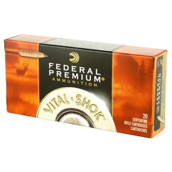 Federal Vital-Shok, 243 Win, 85 Grain, Trophy Copper, Lead Free, 20, Round Box P270TC1, UPC : 029465063399