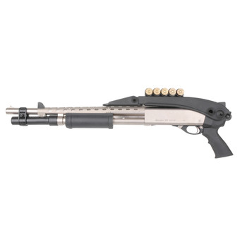 Advanced Technology Stock, Fits Mossberg/Winchester/Remington, 12 & 20 Gauge, Top Folder, Black TFS0600, UPC :758152506009