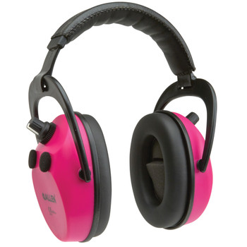 Allen Axion Electronic Lo-Profile Earmuff, Orchid, NRR 25 Rated, Meets ANSI S3.19 and CE EN352 Requirments, Quad Microphone Stero Sound,  Memory Foam Padded Ear Cup, Requires 2 AAA Batteries (Not Included) 2232, UPC : 026509022329