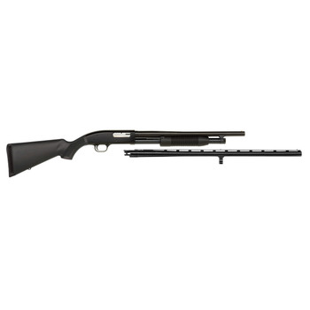 "Mossberg 88, Pump, 12Ga 3"", 28"" & 18.5"", Black, Synthetic, 18.5"" Security & 28"" Field Barrel, Cyl, 3"", Modified Only, 5Rd, Combo, Bead 31014, UPC : 049533310149"