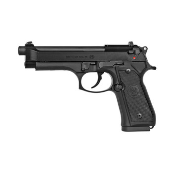 "Beretta M9, Semi-automatic, Double Action/Single Action, Full Size, 22LR, 4.9"" Barrel, Alloy Frame, Matte Black Finish, 10Rd, 1 Magazine J90A1M9F18, UPC : 082442736389"